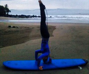 beach, hijab, and yoga image