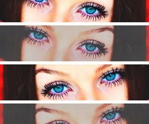 blue, make up, and cílios image