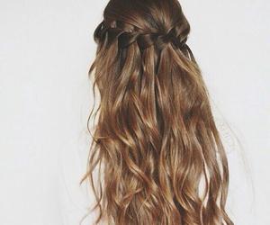 hair, brown, and braid image