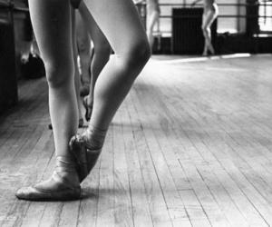 ballerina, blacknwhite, and muscles image