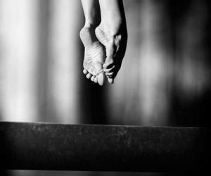 ballerina, blacknwhite, and pointshoes image