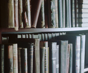 book, vintage, and library image