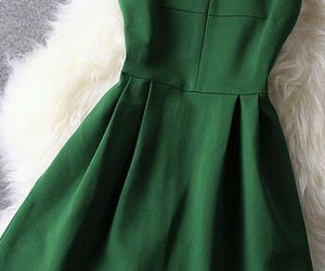 green, fashion, and dress image