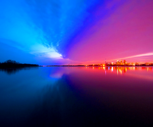 photography, pink, and blue image