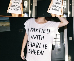 charlie sheen, guy, and party image