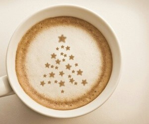 christmas, coffee, and tree image