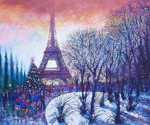 art, christmas, and paris image