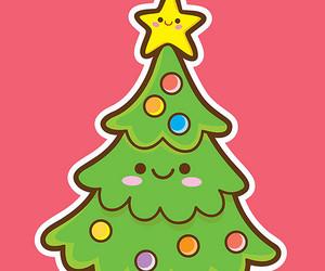 christmas, christmas tree, and kawaii image