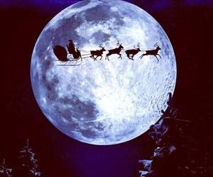 christmas, moon, and night image
