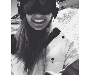 girl, ski, and smile image