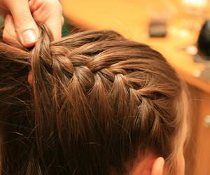 blonde, plait, and braid image