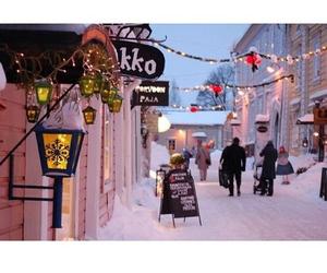 christmas, snow, and street image