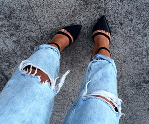 black shoes, leggings, and style image