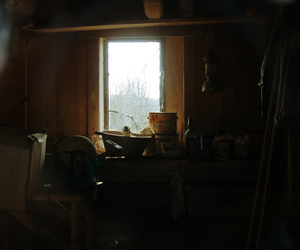 dark, old, and shed image