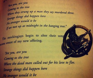 mockingjay, hunger games, and the hanging tree image