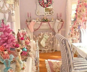 christmas, pink, and pastel image