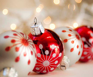 christmas, red, and ornaments image