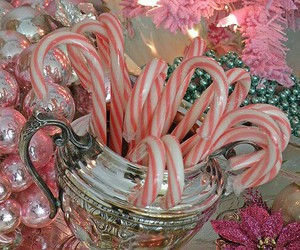 candy cane, christmas, and pink image