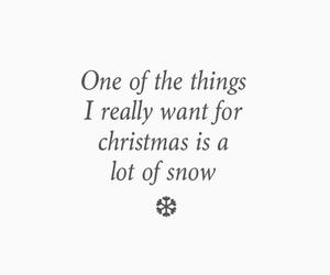 christmas, snow, and text image