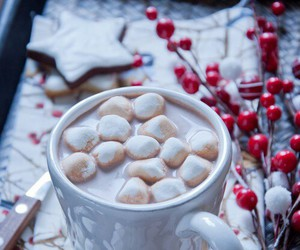 cappuccino, food, and marshmallow image