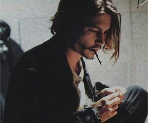 johnny depp, smoke, and cigarette image