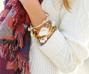 accessories, girl, and scarf image