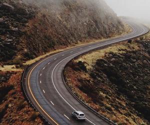 road, car, and nature image