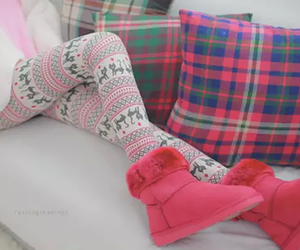 pink, ugg, and winter image