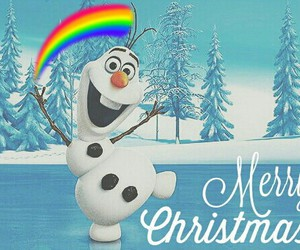 christmas, frozen, and merry image