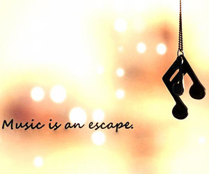 escape, sepia, and music image