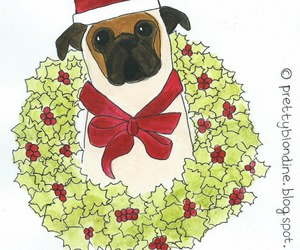 art, christmas, and dog image