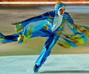 hijab, ice skater, and islam image