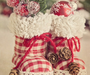 boots, christmas, and decorations image