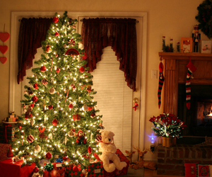 christmas, decorations, and christmas tree image