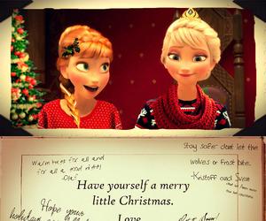anna, christmas, and disney image