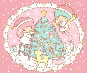 sanrio, christmas, and little twin stars image