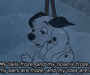 disney, dog, and cold image