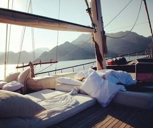 boat, summer, and sea image
