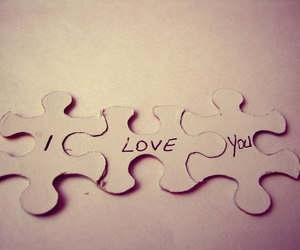 love, puzzle, and I Love You image