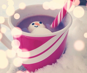 merry christmas and hot ​chocolate image