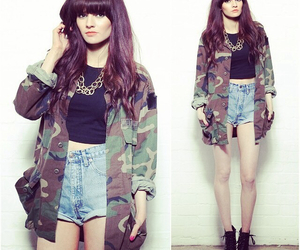 army, jacket, and love clothing image