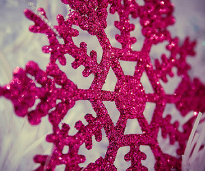 pink, snowflake, and winter image