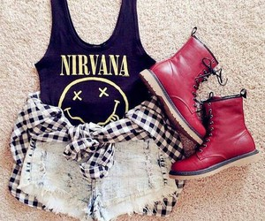 boots, girly, and look image