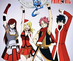 fairy tail, anime, and christmas image