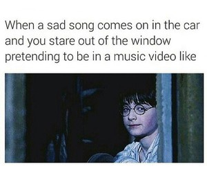 funny, harry potter, and car image