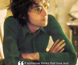 john lennon, message, and love image