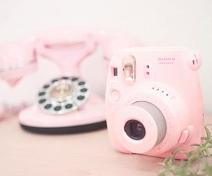 pink, camera, and fujifilm image