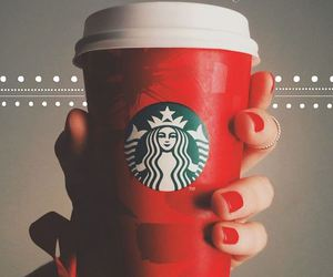 starbucks, red, and christmas image