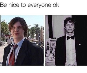 evan peters, ahs, and funny image