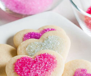 food, hearts, and Cookies image
